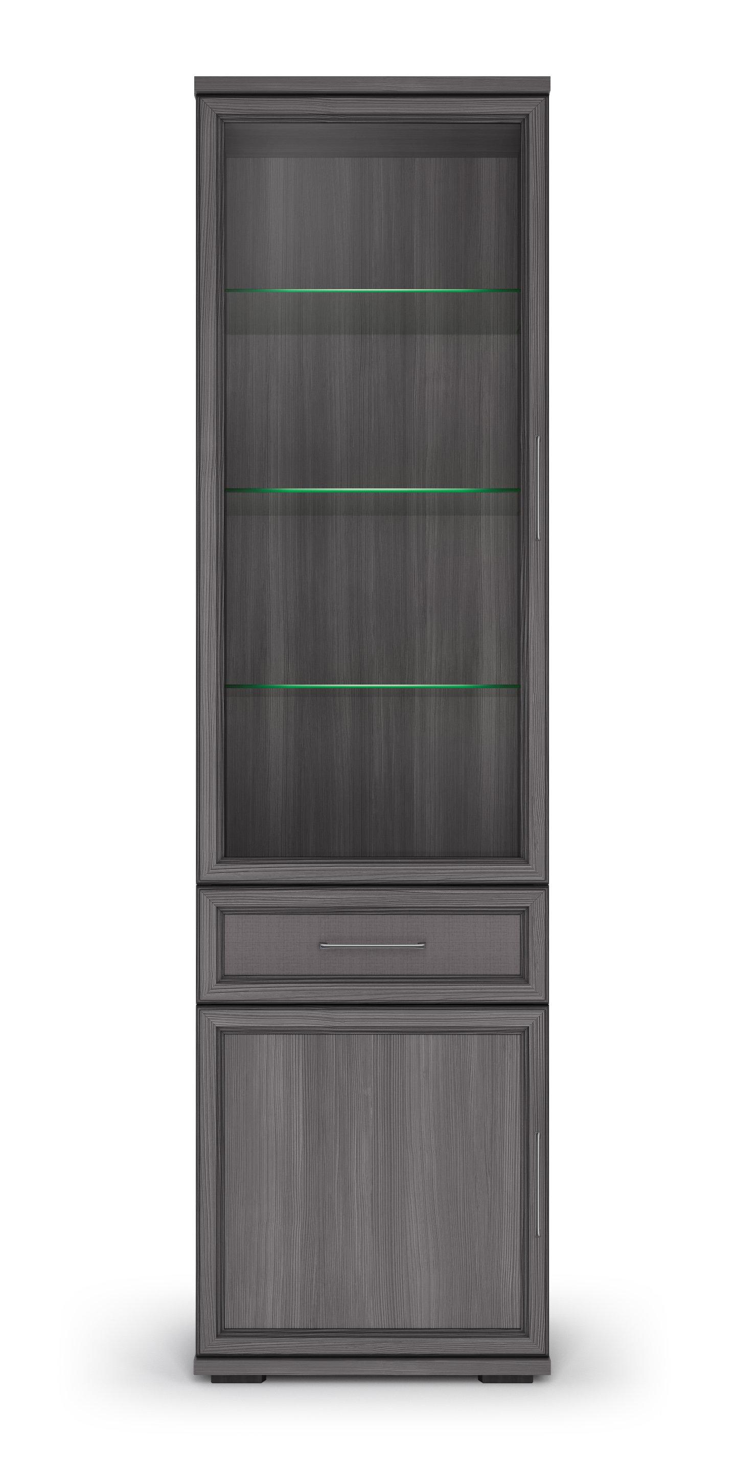 Шкаф 600 со стеклом «Палермо» Кураж