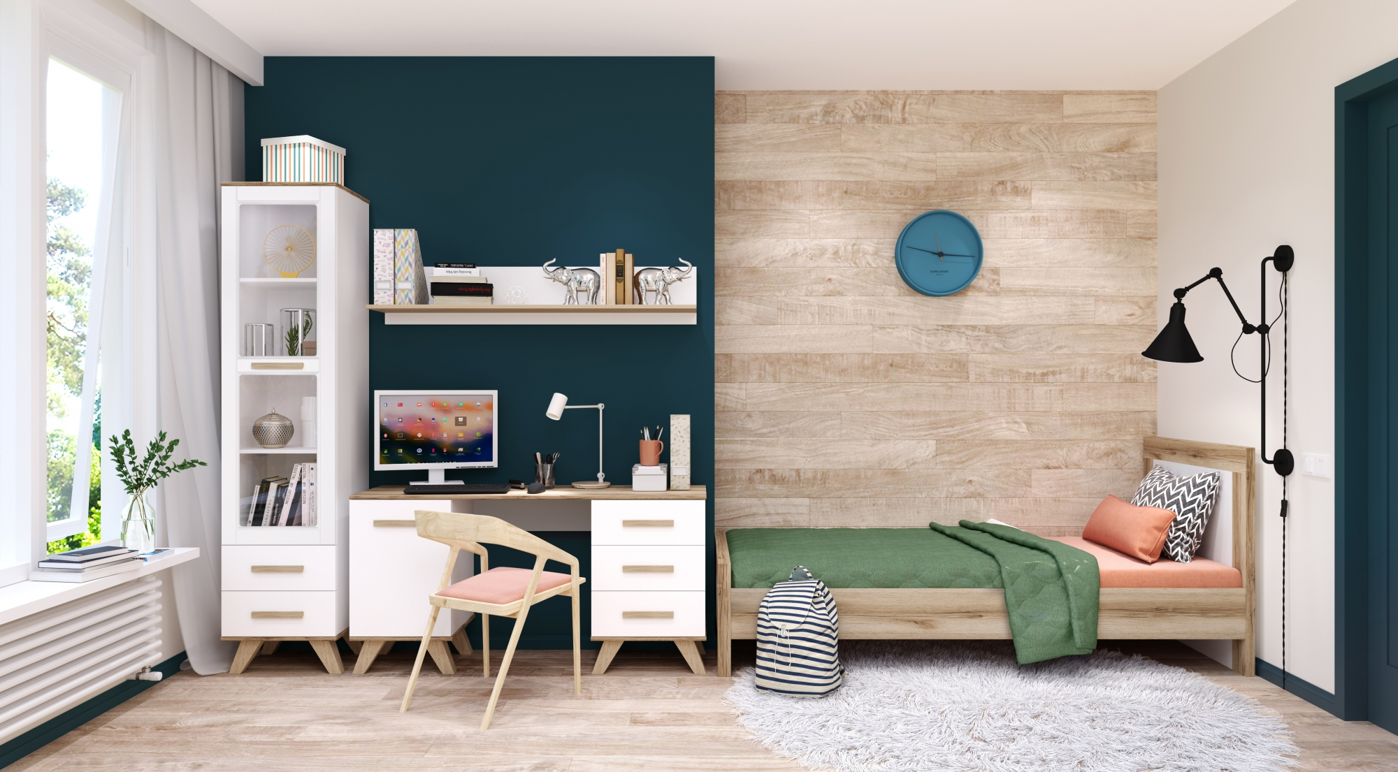 Спальня «Вега Скандинавия» (комплект 1) Кураж