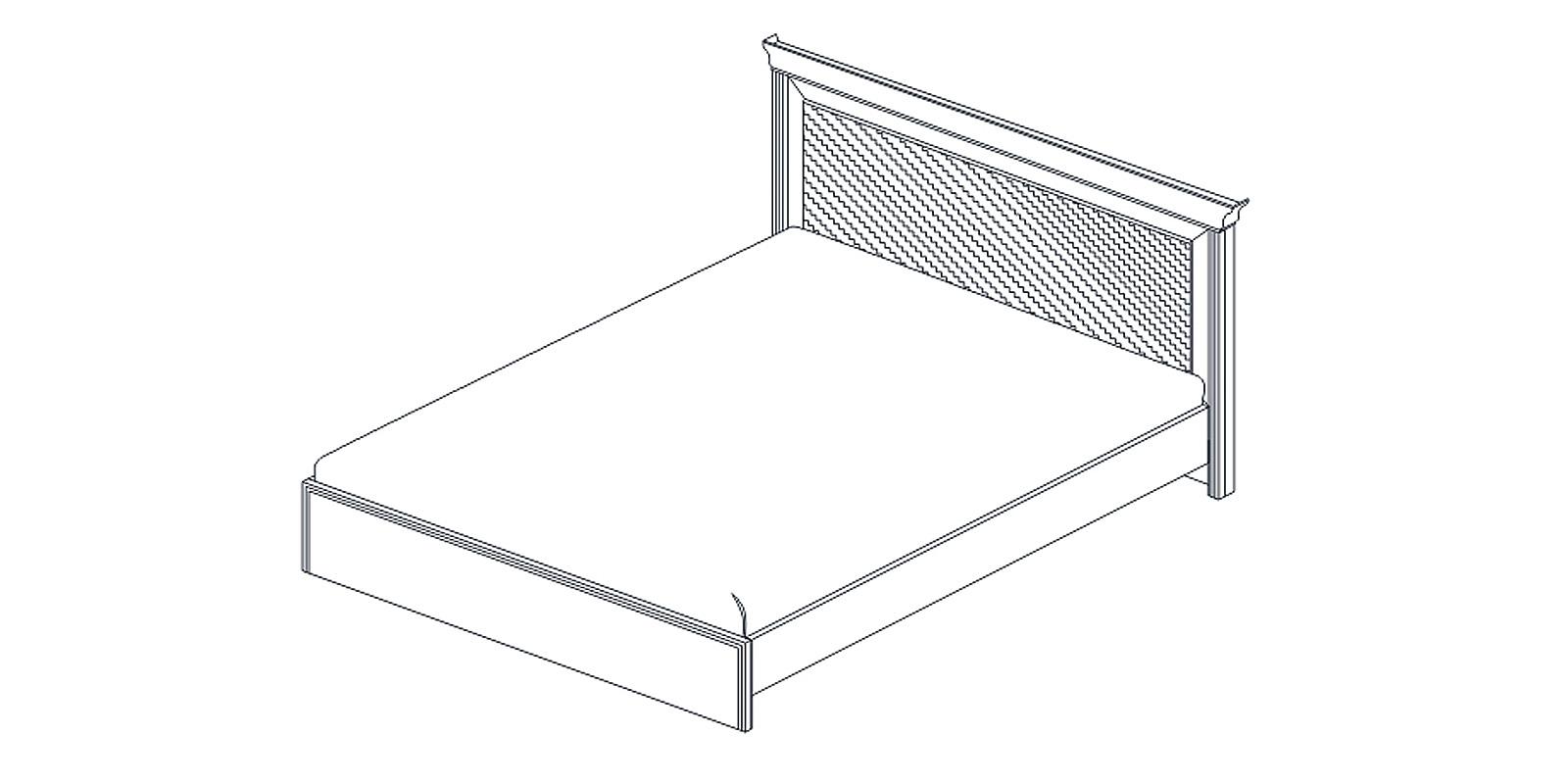 Кровать-1 с ортопедическим основанием «Венето» Кураж