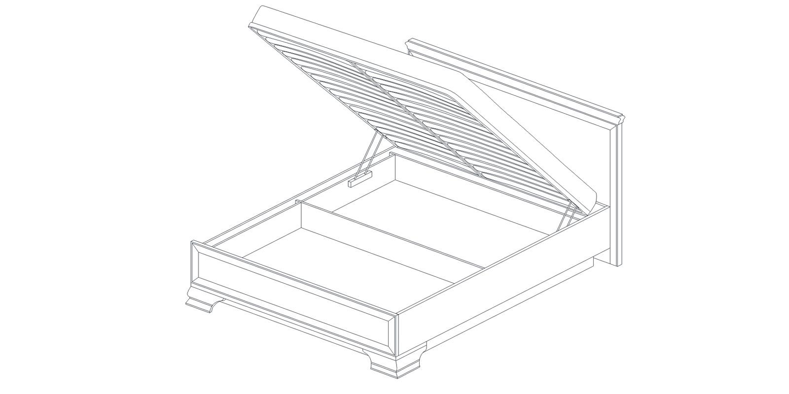 Кровать-1 с подъемным механизмом «СИЕНА» Кураж