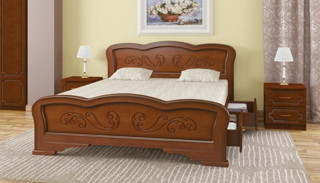 Кровать «Карина 8 с ящиками» Bravo