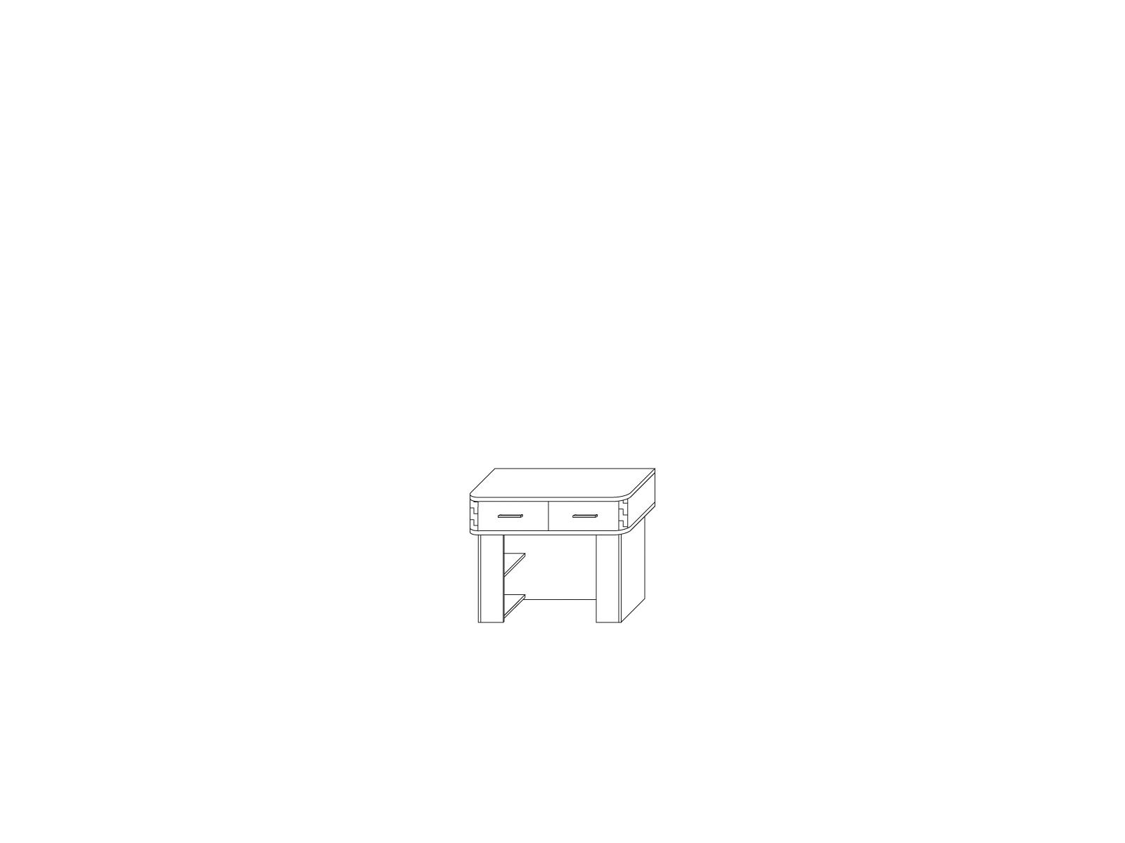 Стол туалетный «СОРРЕНТО» Кураж