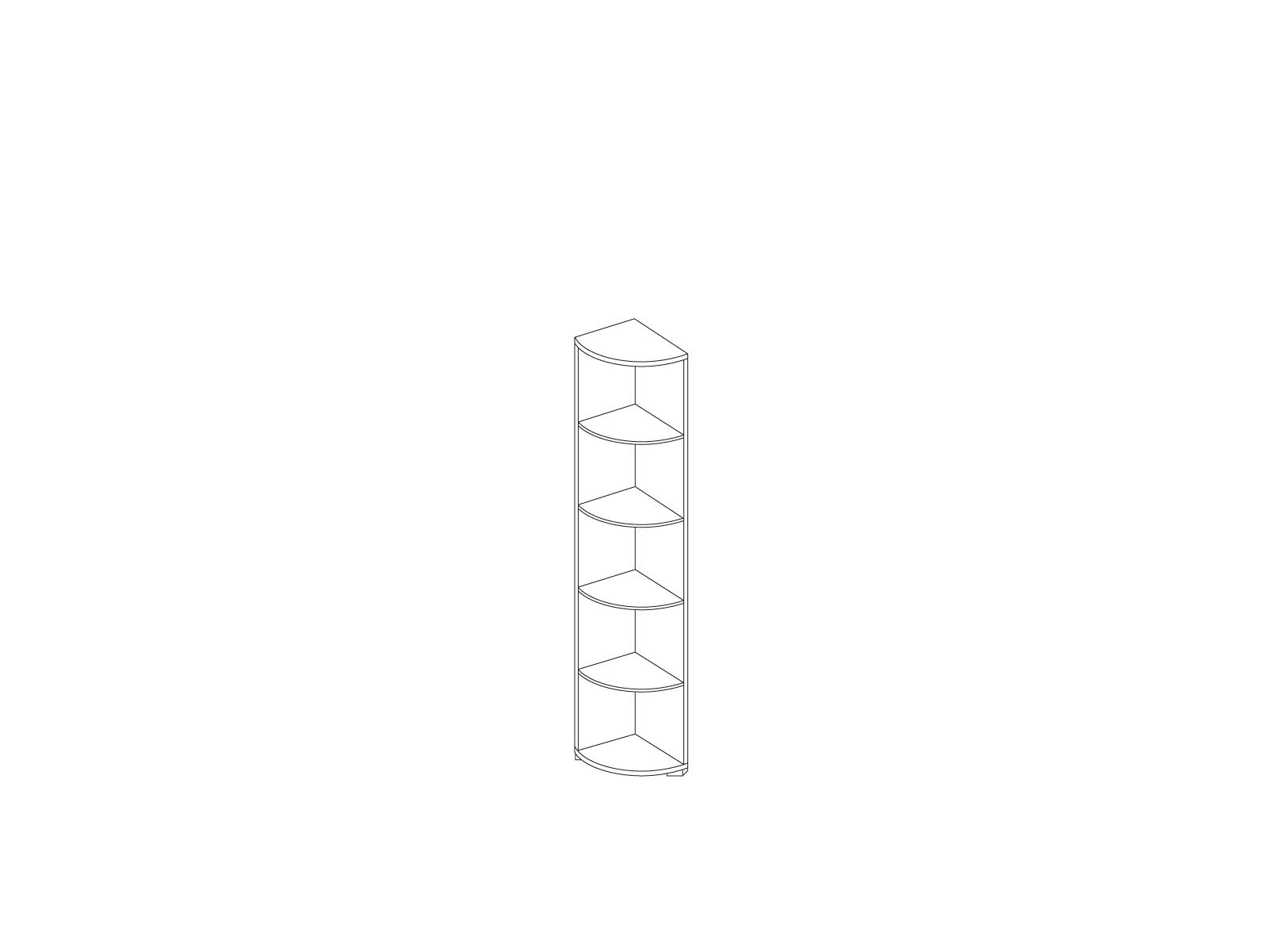 Стеллаж угловой «Прато» Кураж