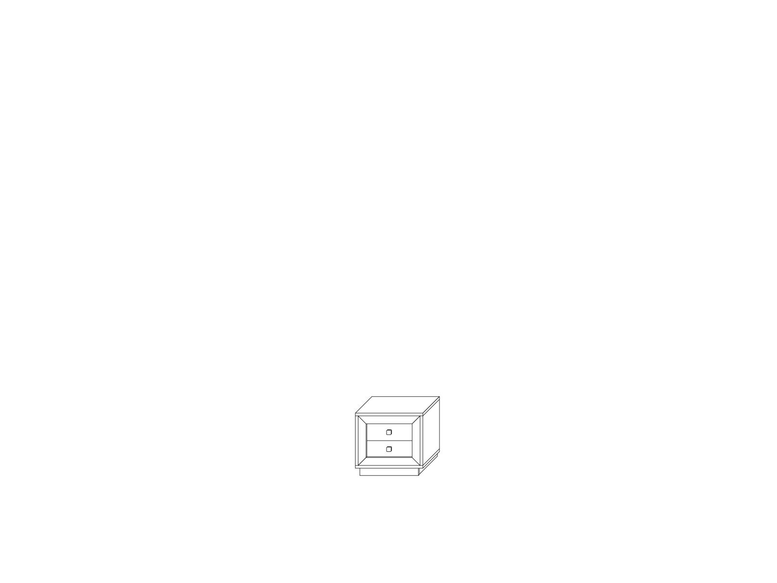 Тумба прикроватная «Прато» Кураж