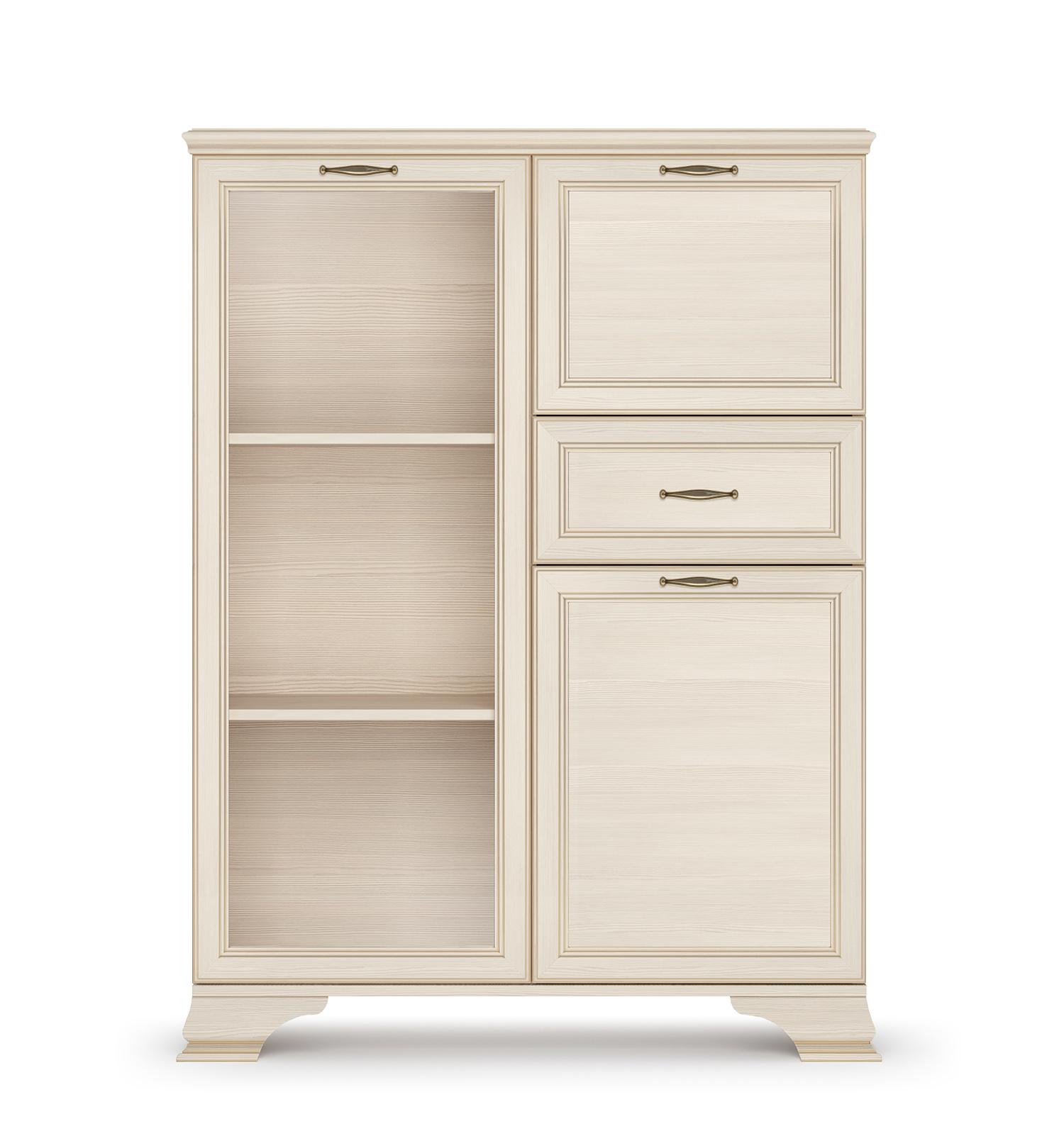 Шкаф низкий (1 стеклодверь) «Сиена» Кураж