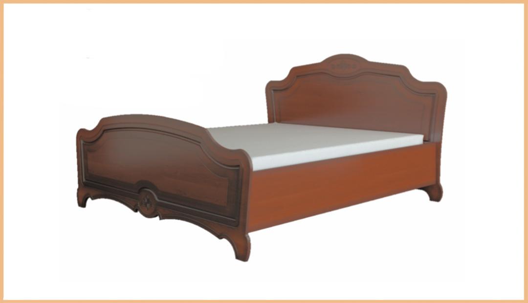 Кровать двойная «Лотос» лак Bravo