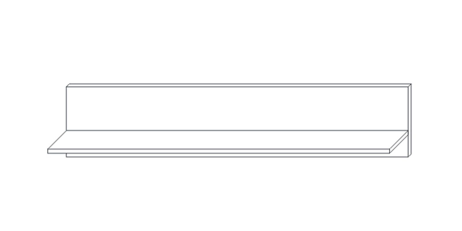Полка навесная 1 1300 «Сиена» Кураж