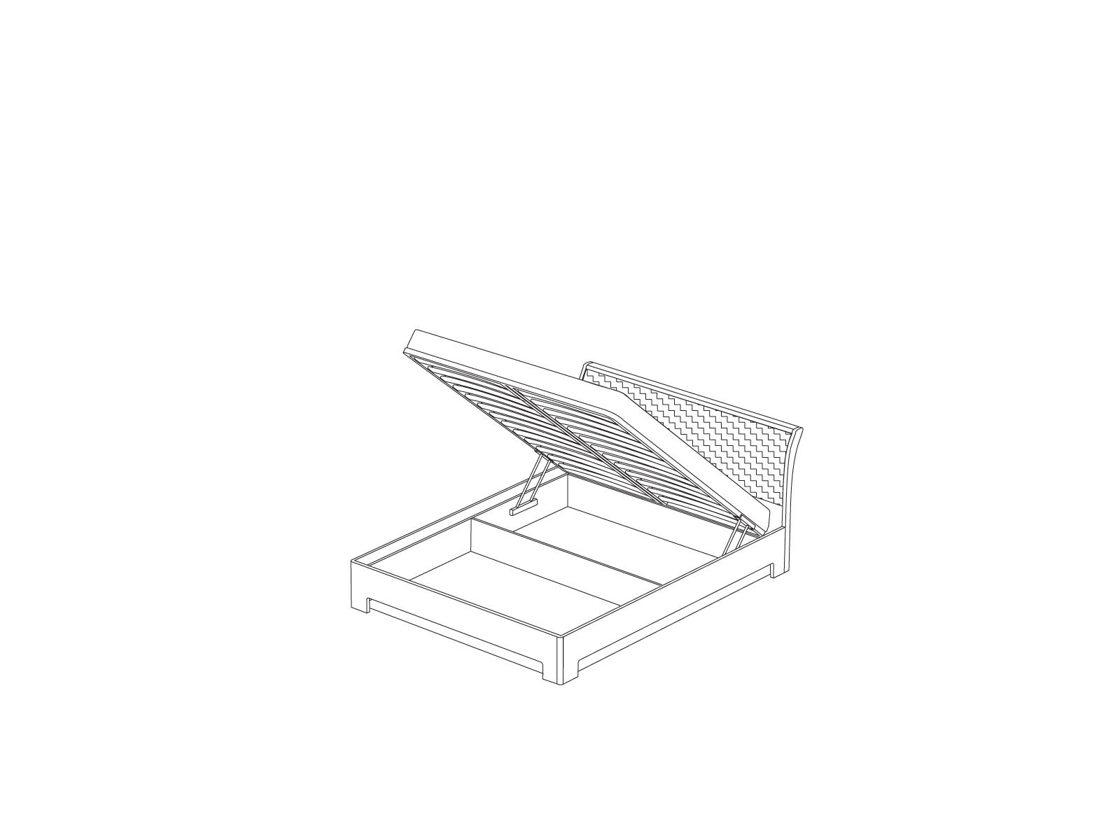 Кровать-3 с подъемным механизмом «Прато» Кураж