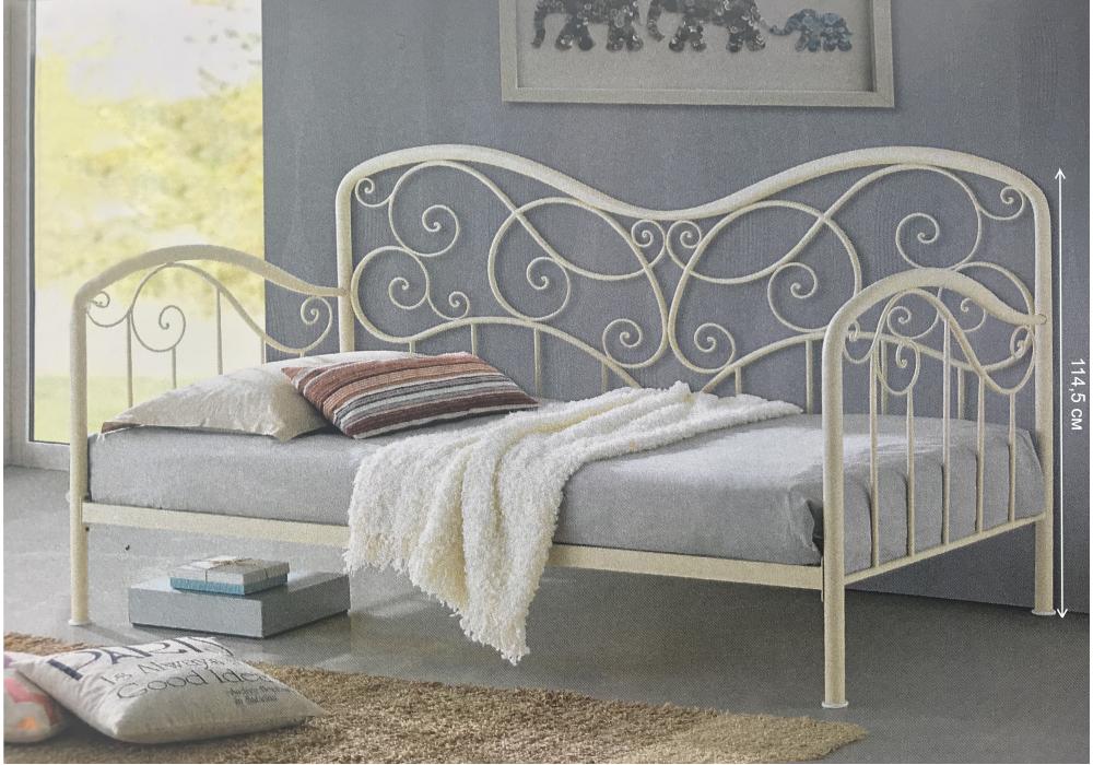 Кровать Inga 90 х 200 см glossy ivory Woodville