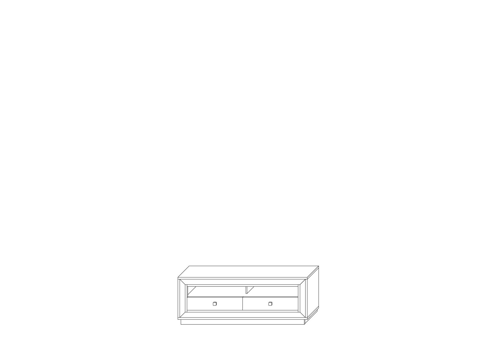 Тумба для аппаратуры 1694 низкая «Прато» Кураж