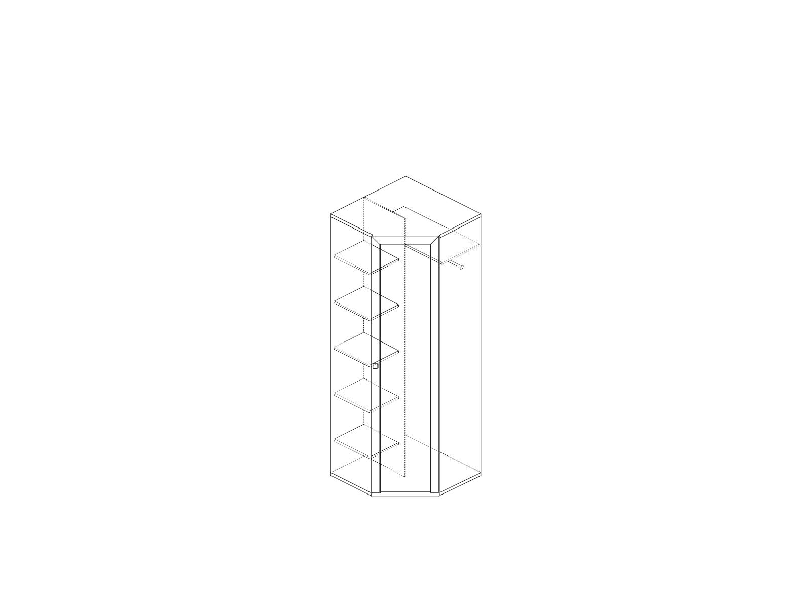 Шкаф угловой (дверь глухая в комплекте) «Прато» Кураж