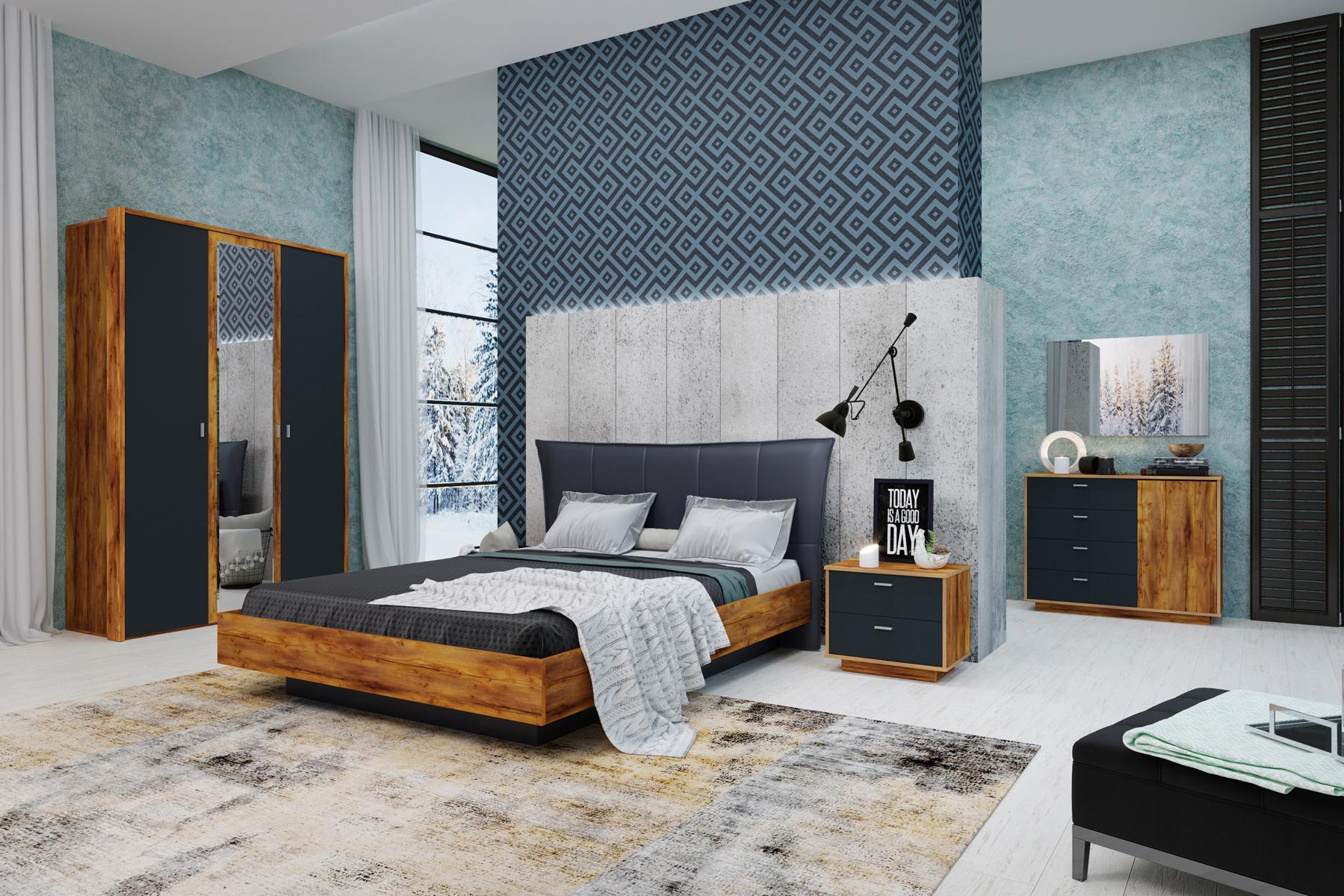 Спальня «Вега Бавария» (комплект 1) Кураж