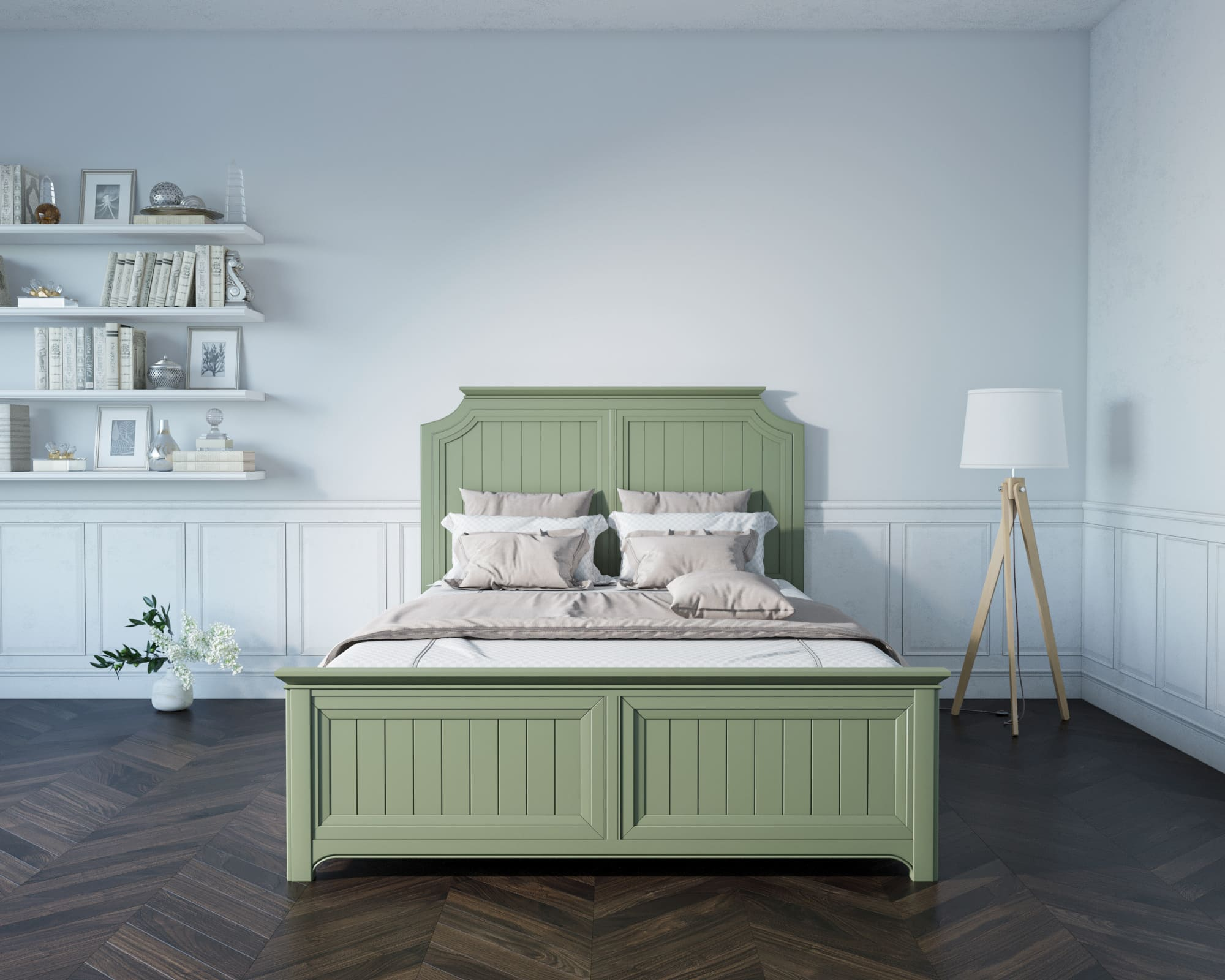 "Кровать ""Olivia"" 160х200 Этажерка"