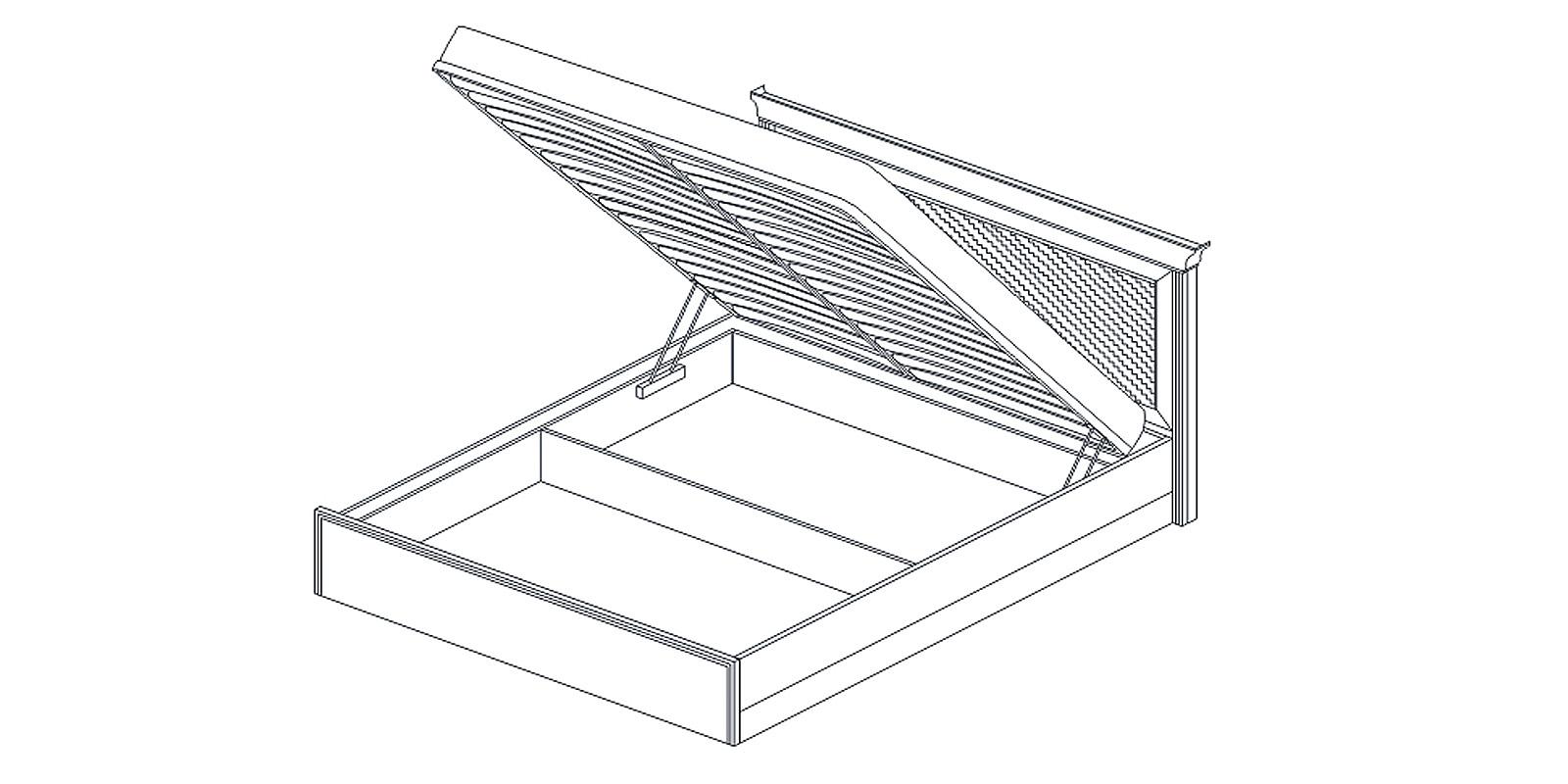 Кровать-1 с подъемным механизмом «ВЕНЕТО» Кураж
