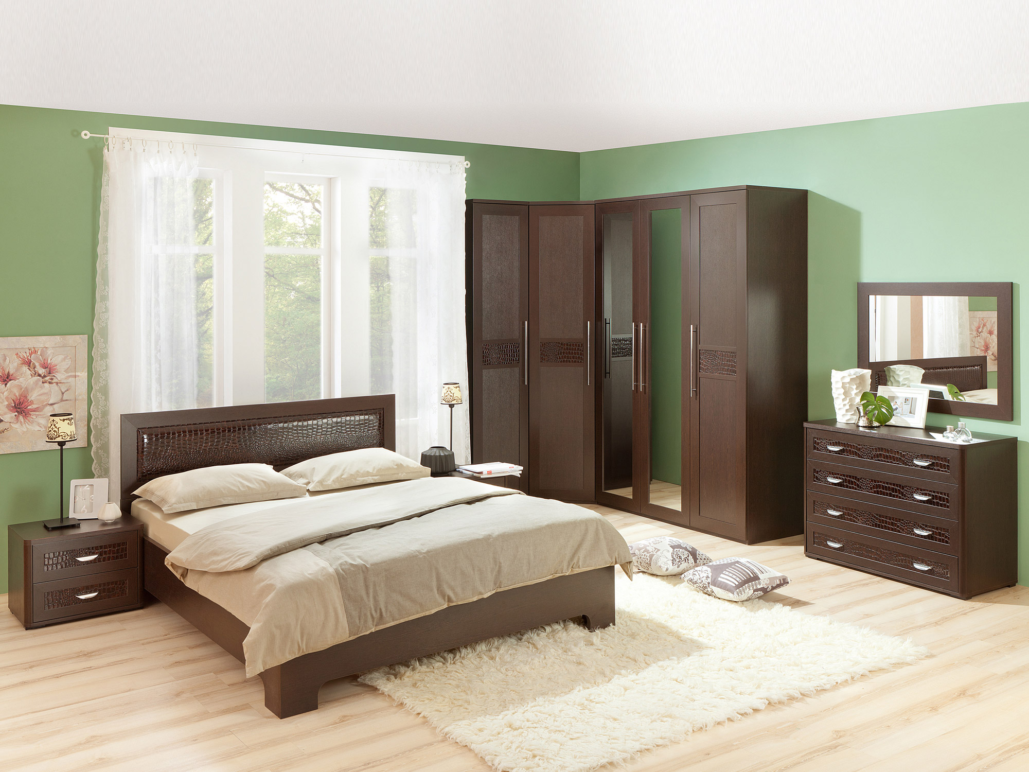 Спальня «ПАРМА» (комплект 2) Кураж