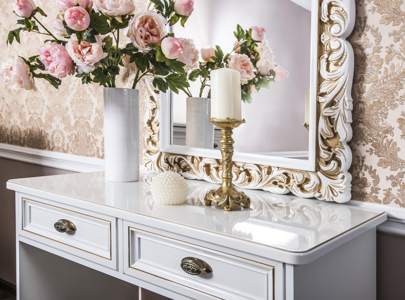 Стол туалетный «Натали» (комплект с зеркалом и пуфиком) ЭРА