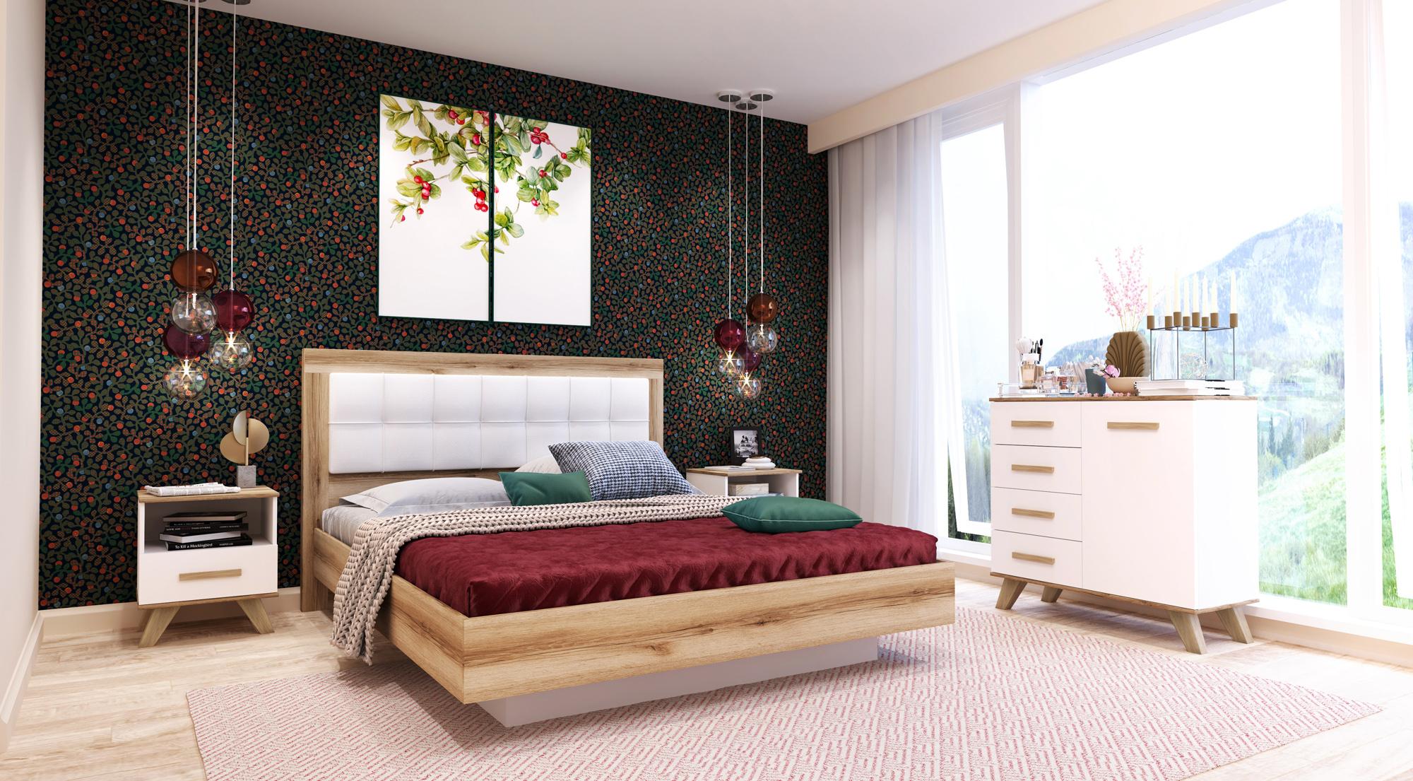 Спальня «Вега Скандинавия» (комплект 2) Кураж
