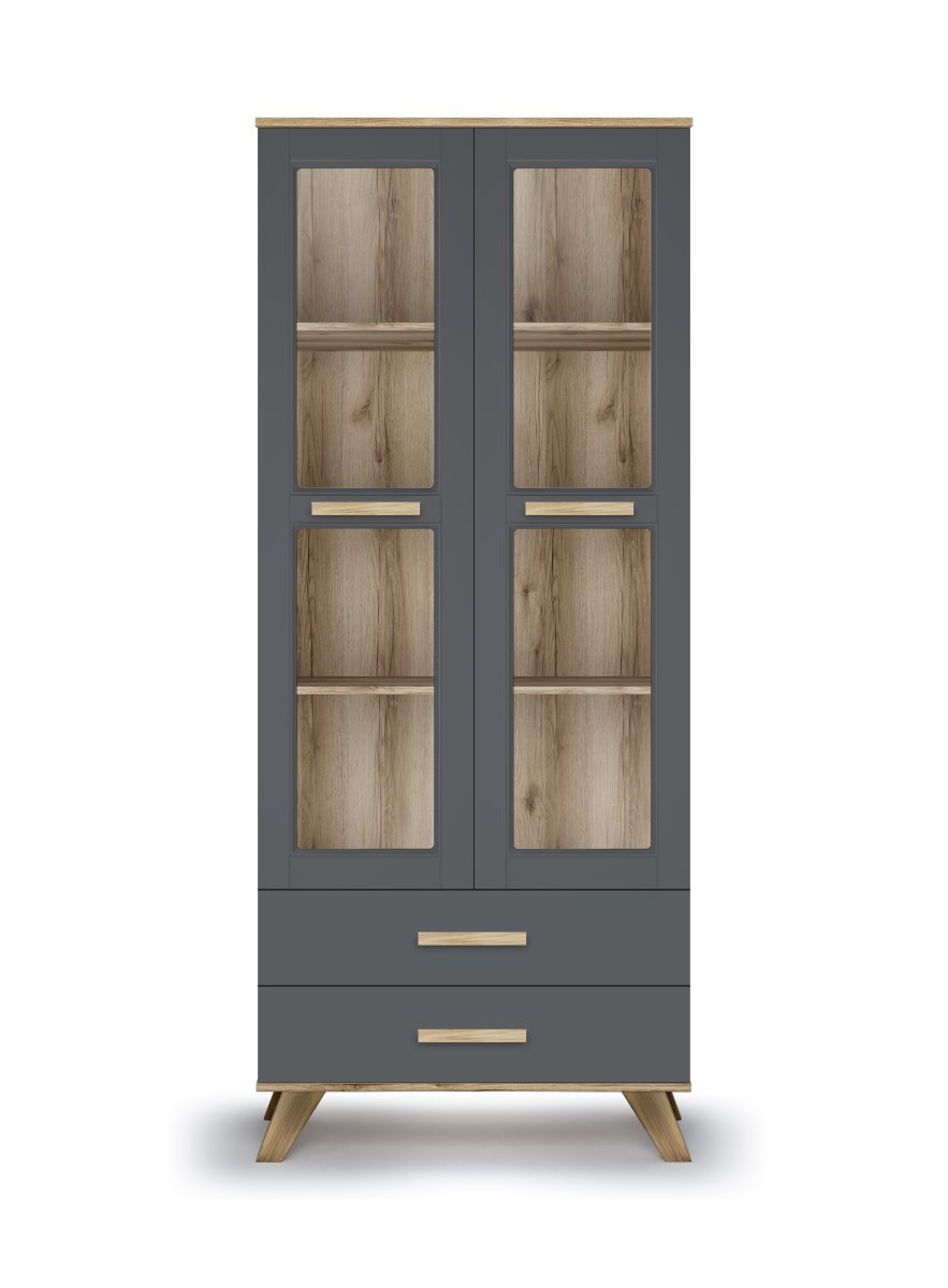 Шкаф-витрина 800 «Вега Скандинавия» (силк флай) Кураж