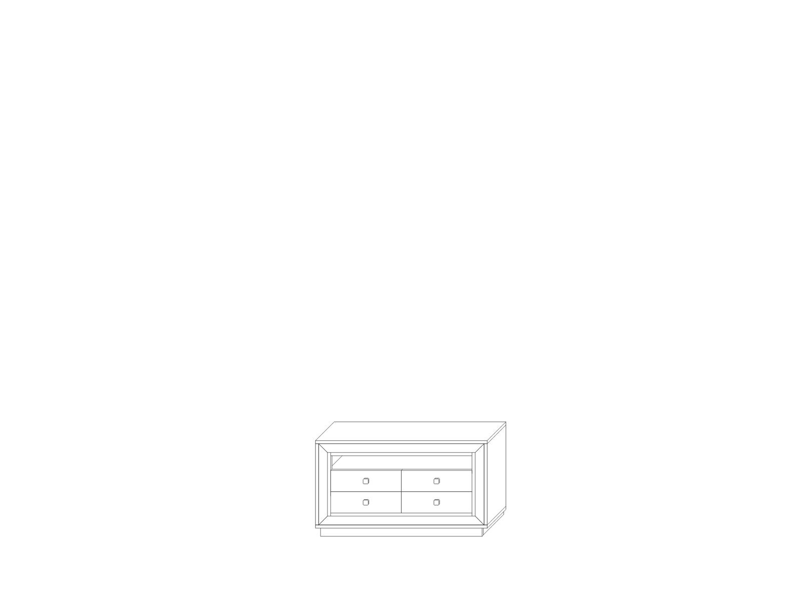 Тумба для аппаратуры 1364 (4 ящика) «Прато» Кураж