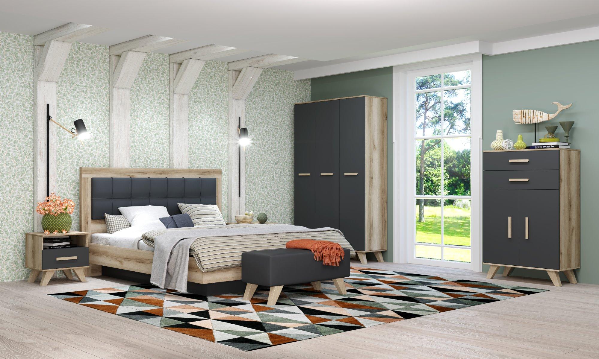 Спальня «Вега Скандинавия» (комплект 5) Кураж