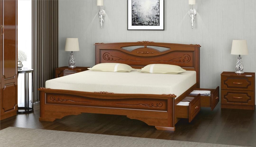 Кровать «Елена 3 с ящиками» Bravo