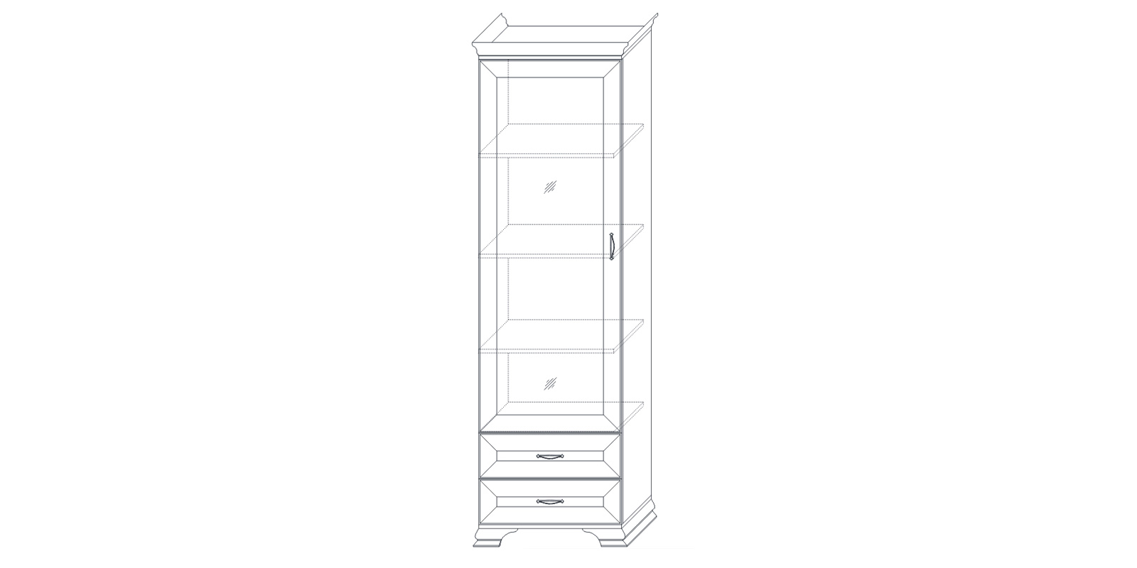 Шкаф-витрина «Сиена» Кураж